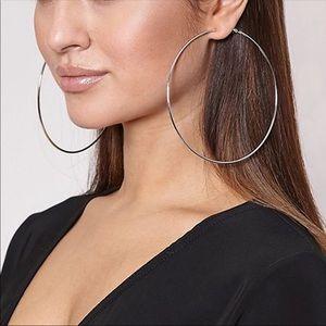 Earrings Gold Jumbo Hoops 4 inches